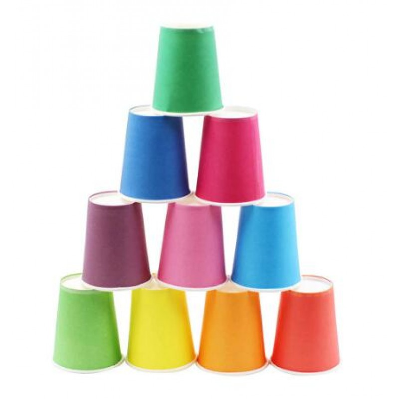 0pcs/set DIY Paper Cups Wedding Party Picnic Tableware Disposable Cups
