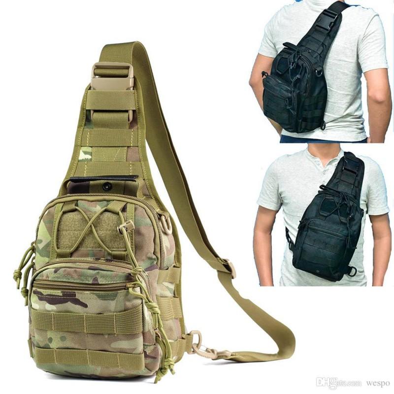 Tactical sling shoulder backpack sports bag