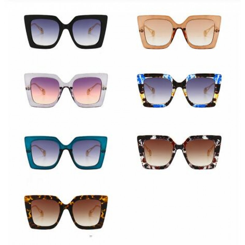 Classic Blue Floral Sunglasses Women Luxury Brand Designer Pearl 2019 Cat Eye Sun Glasses