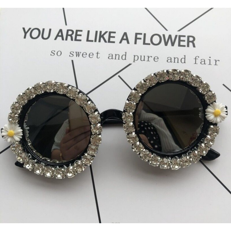 2019 Unique Design Round Women Handmade Sunglasses