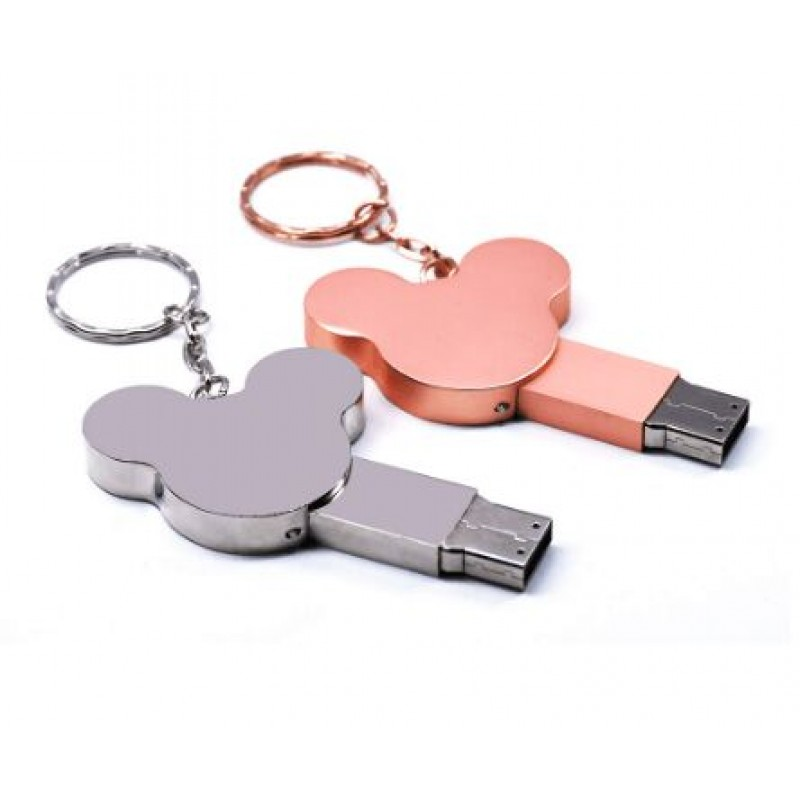 ear USB flash drive fashion16GB 8GB 32GB 4GB 64GB silver metal pendrive