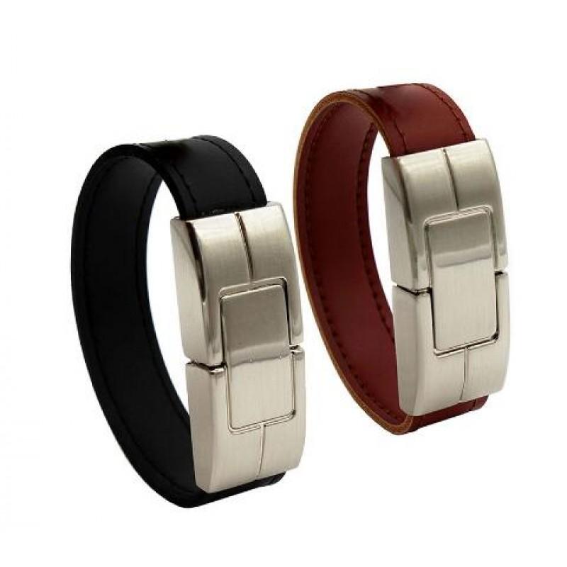 Wrist band USB flash drive 64gb Leather metal keyring Pendrive creativo 32gb 16gb 8gb 4gb usb2.0