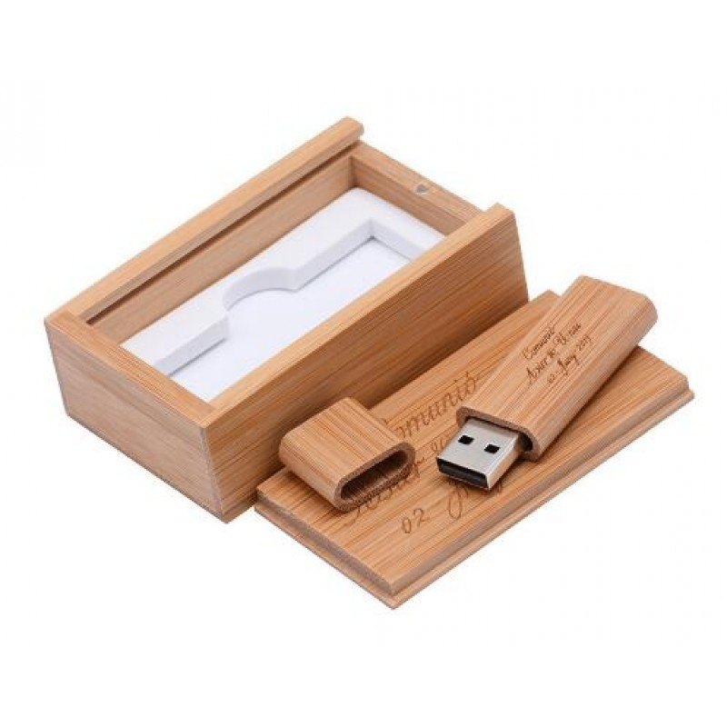 LOGO customized wooden usb flash drive with box