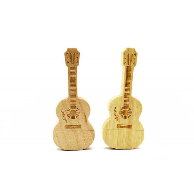 maple wooden Bamboo Guitar LOGO usb flash drive 4GB 8GB 16GB 32GB 64GB usb 2.0 gift pendrive