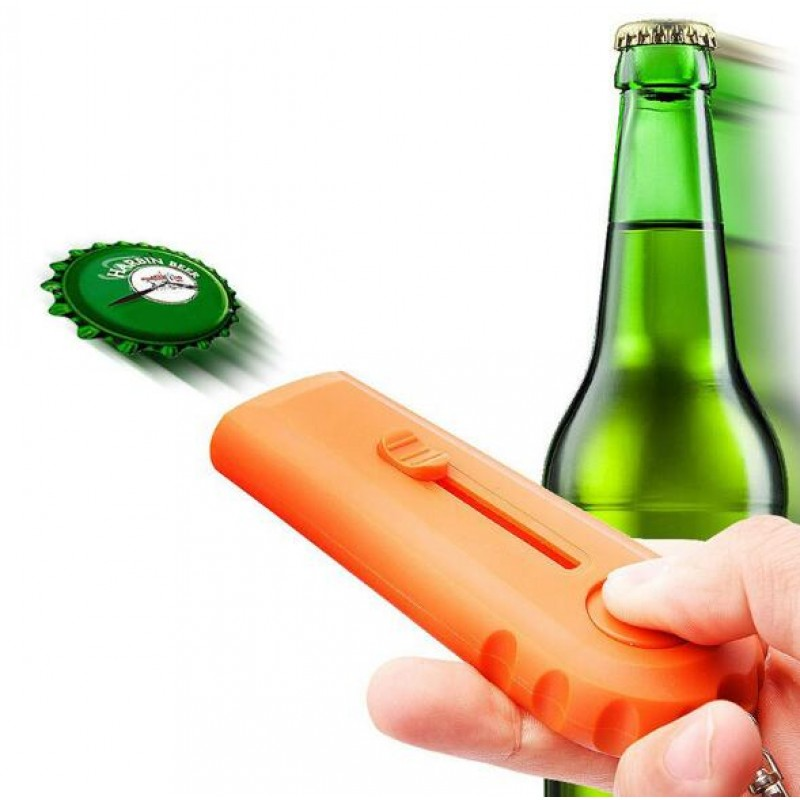 NEW Plastic wine glass Wine accessories Launcher Cap Shooting Fly Flying Bar Kitchen tools Beer Opening Launcher Bottle Opener