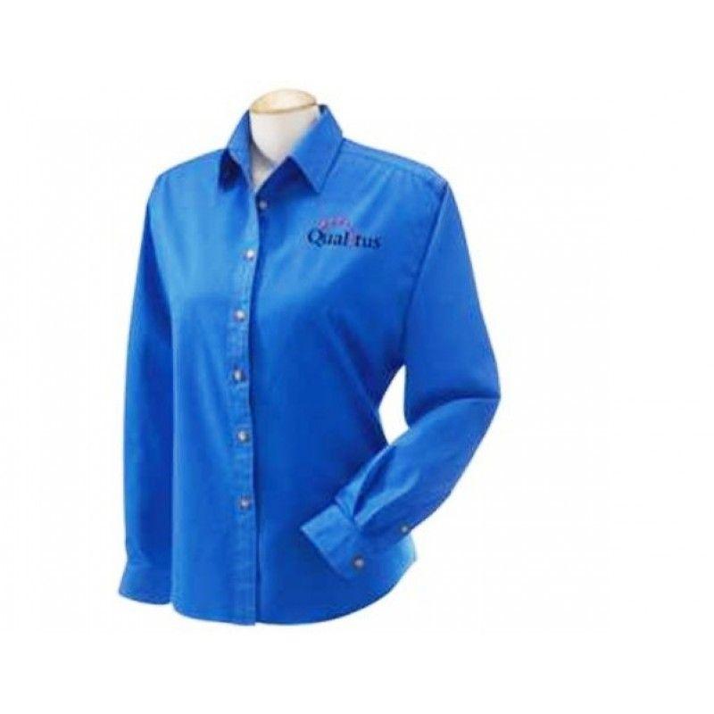 Cheap Ladies' Long Sleeve Twill Shirt