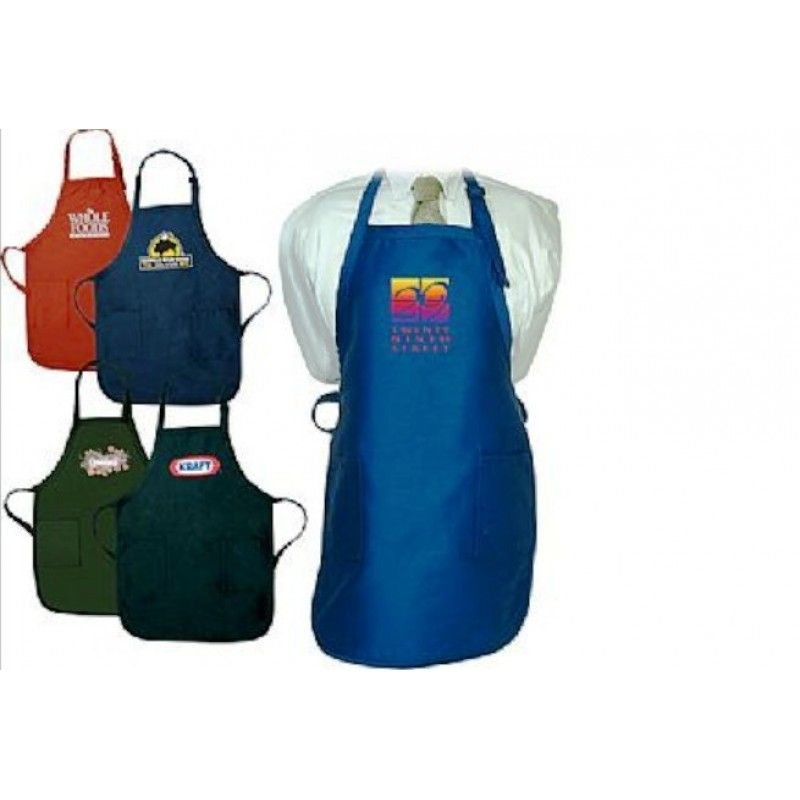 Apron with Pockets In Dark Colors - 7.5 oz.