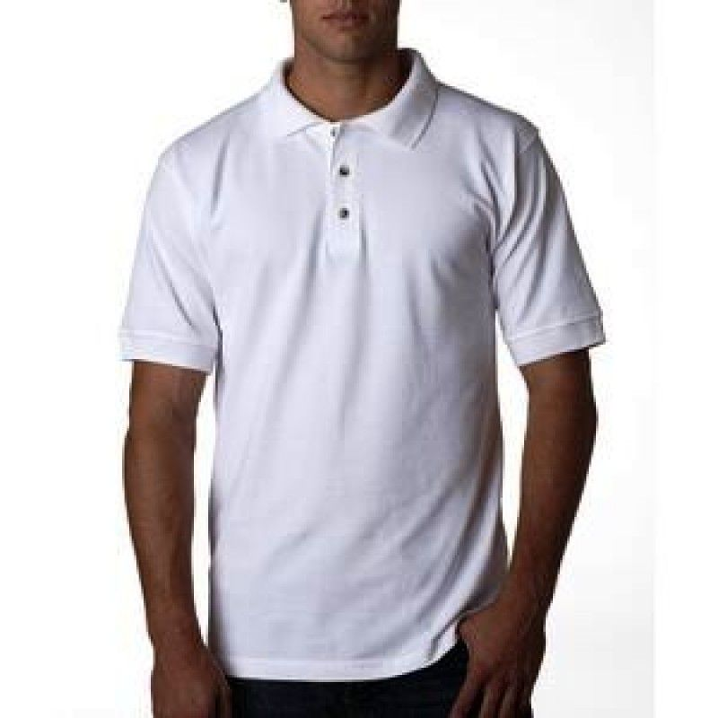 Cheap Bayside Adult Pique Short Sleeve Polo