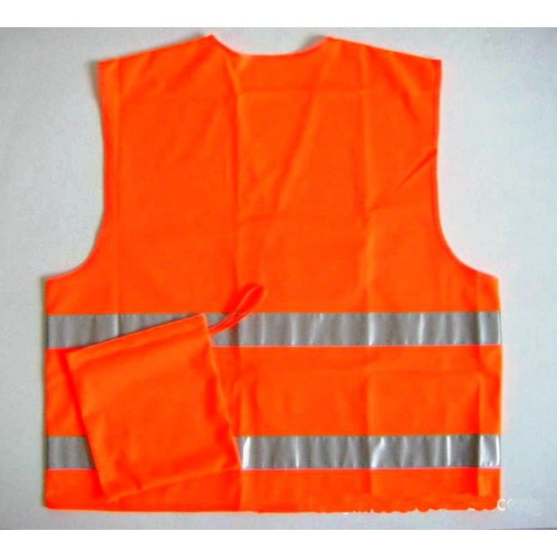 Cheap 100% Polyester Reflective Vest with pouch