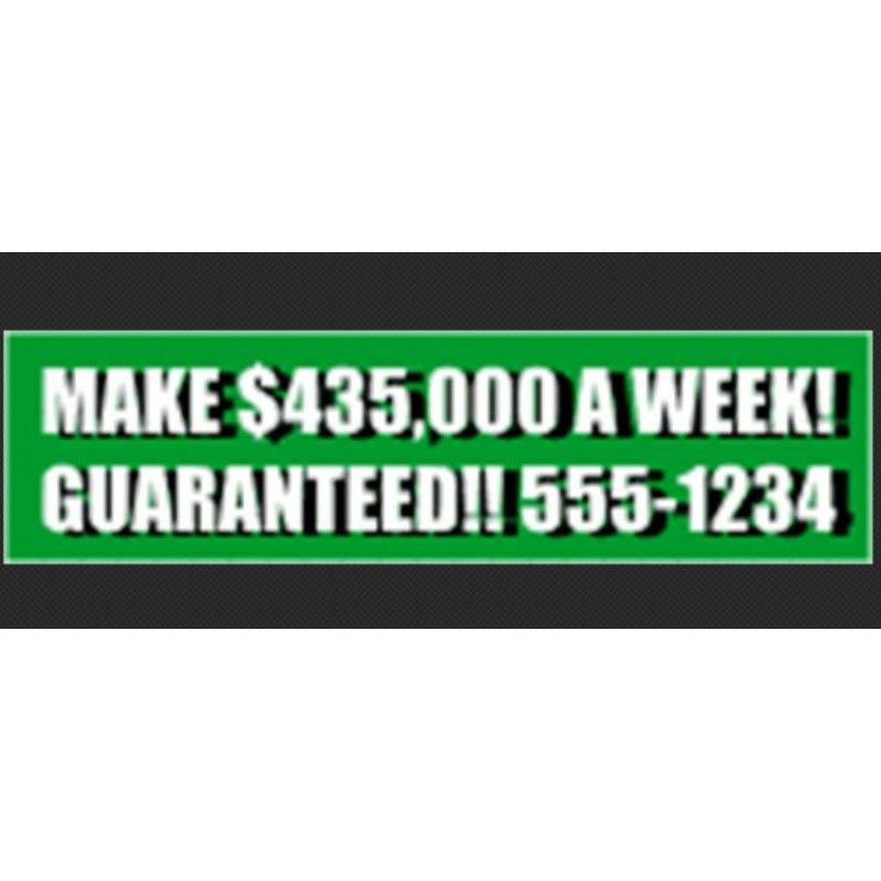 "Cheap 9.25"" x 2.5"" Bumper Stickers"