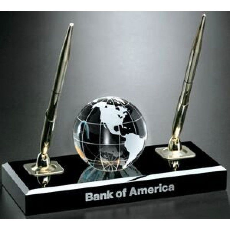 Global Gallery Global Pen Set With Crystal Globe