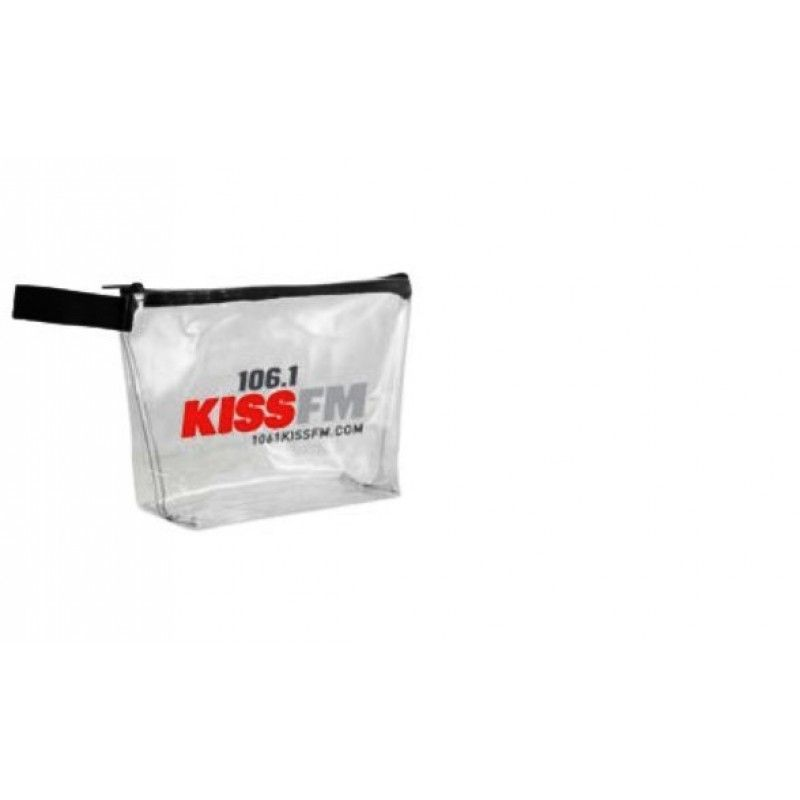 "Cheap 12"" x 4"" x 8"" Clear Stadium Bags with Hand Strap"