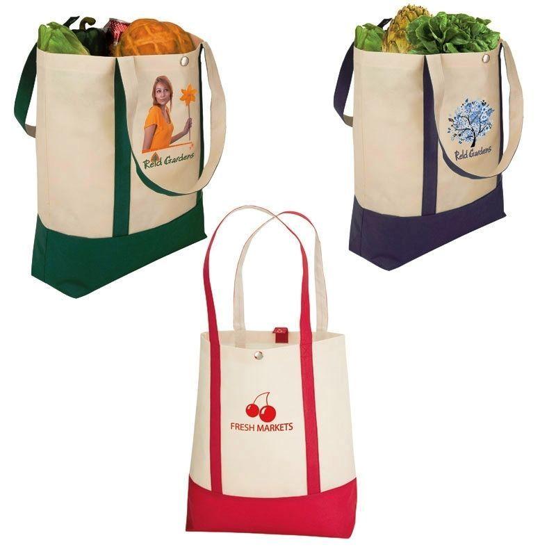 Snap Closure Econo Tote Bag