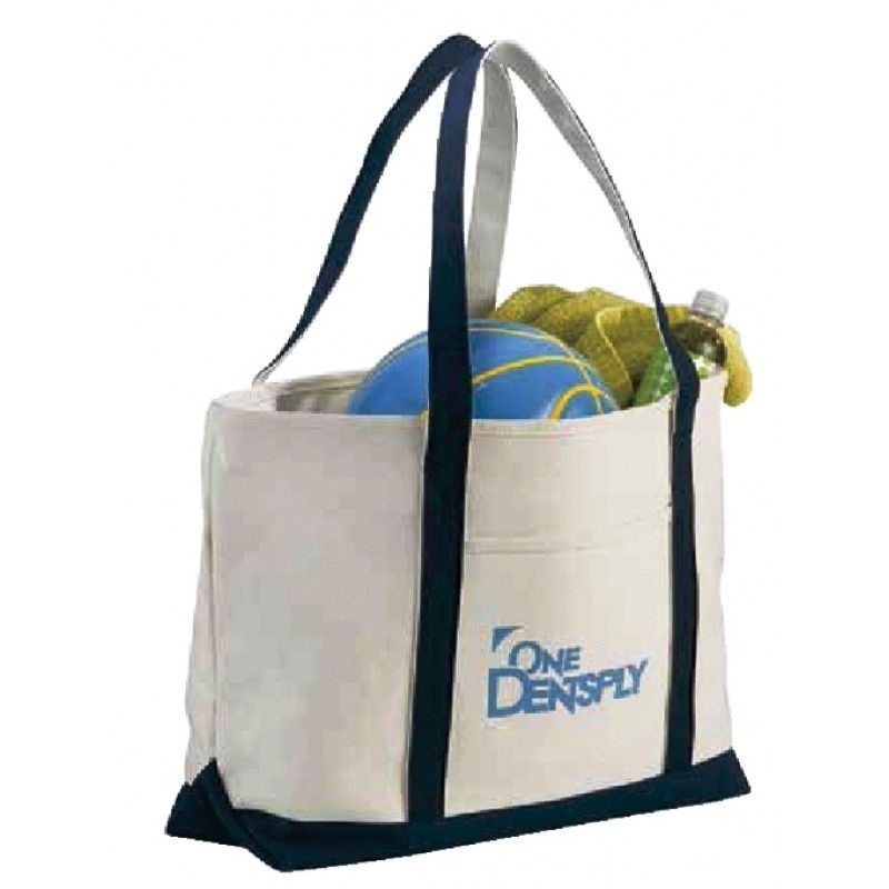 Cheap Premium Heavy Weight Cotton Zippered Boat Tote