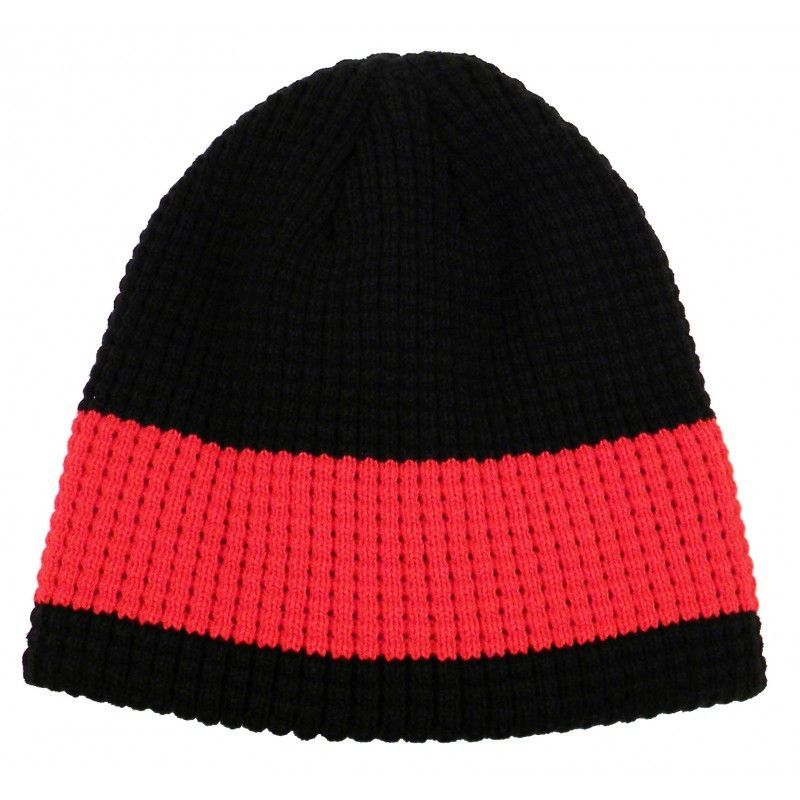 Cheap 2 Tone Big Bear Wide Stripe Eco Beanie