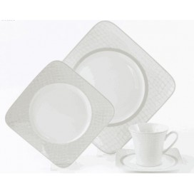 Nordic style square shape  ceramic porcelain bone china dinnerware sets