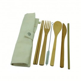 Sell ECO Bamboo and Wood Tableware 6 sets  knives  forks  spoons  chopsticks  straw cleaning sticks.