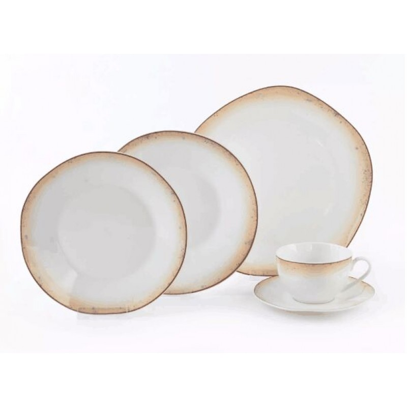 ceramic dinner sets porcelain dinnerware sets with irregular shape