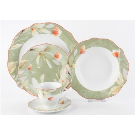 Wholesale porcelain dinnerware restaurant hotel dinner ware set with in glaze decal