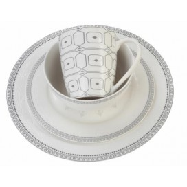 Promotional bulk creative design fine new bone china 16pc dinner sets ceramic