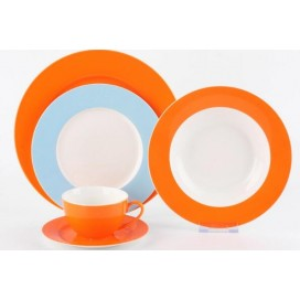 Top quality dinnerware sets porcelain dinner set for home-orange