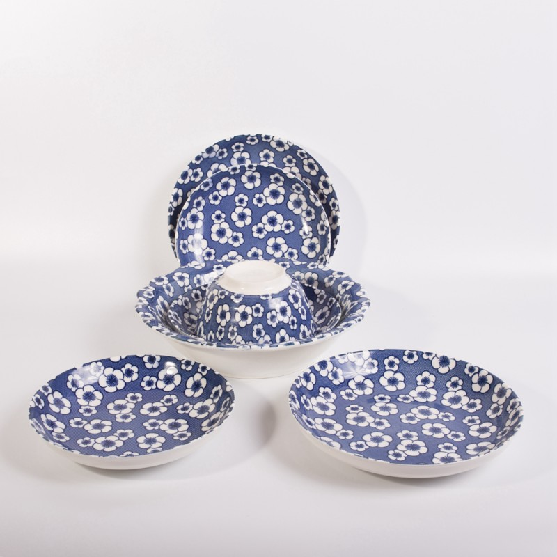 Ceramic Dinner Set Strengthen Porcelain Blue and White Dinnerware Wholesale Plate Sets