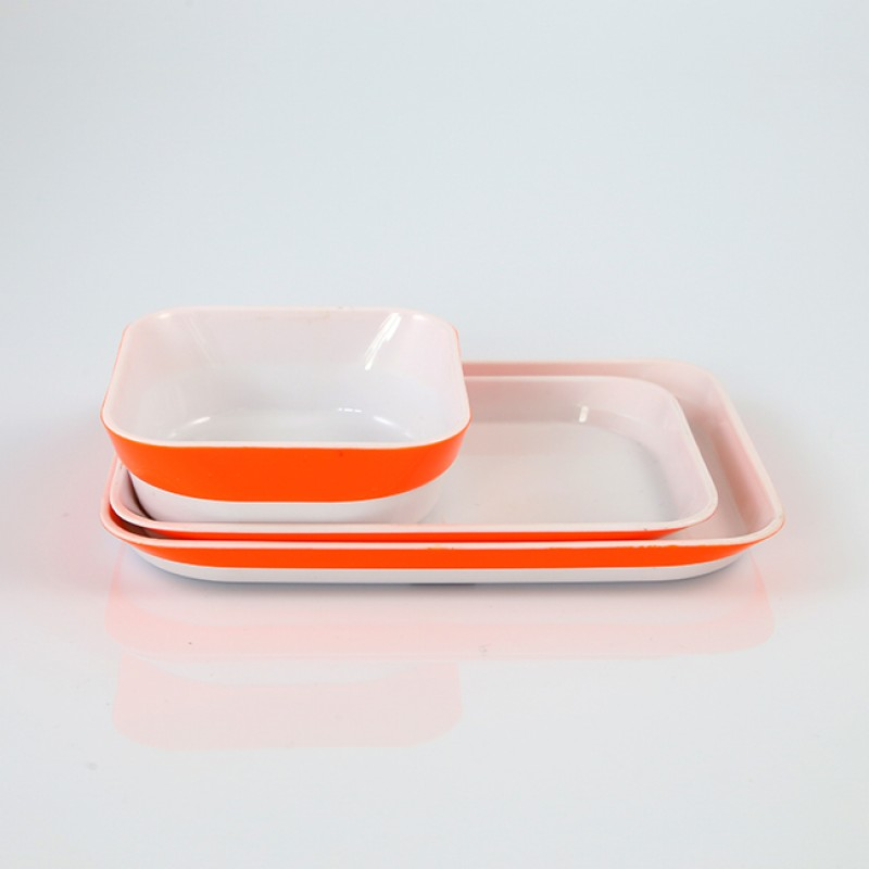 2019 ABS Hard Plastic Reusable Airline Dinnerware Tableware Set