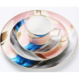New design china luxury 4pcs tableware dinner set