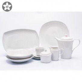 Round embossed ceramic dinner set bone China dinnerware sets luxury plates