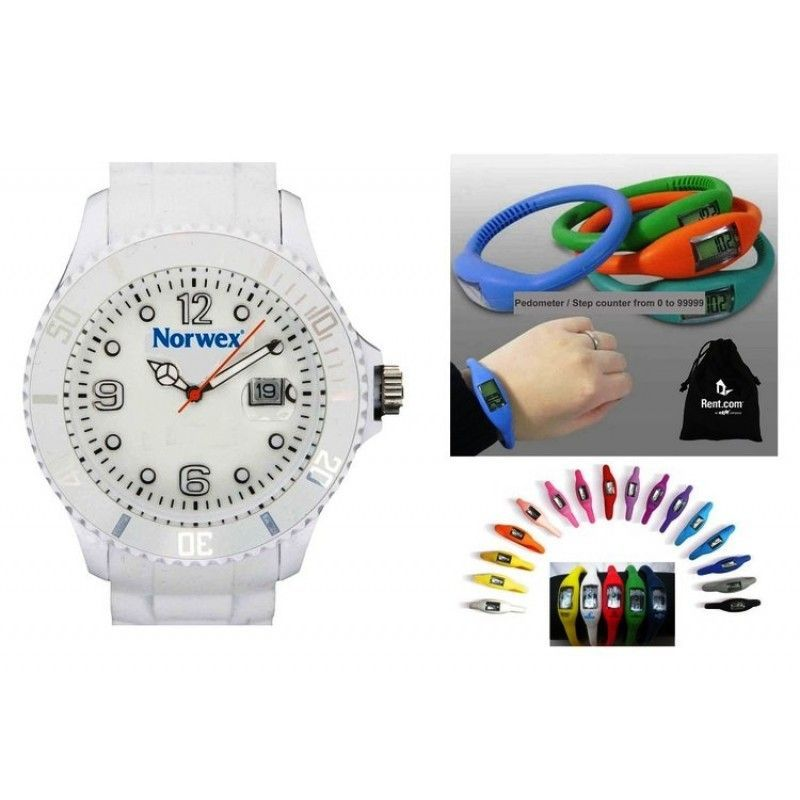 Ibank(R) Silicone Wristband Pedometer + Silicone Watch