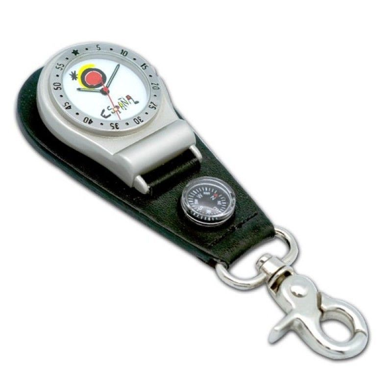 Cheap Pocket Watch With Belt Clip & Compass