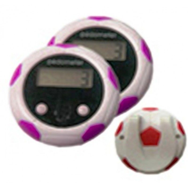 FOOTBALL SHAPED PEDOMETER-BLUE/RED
