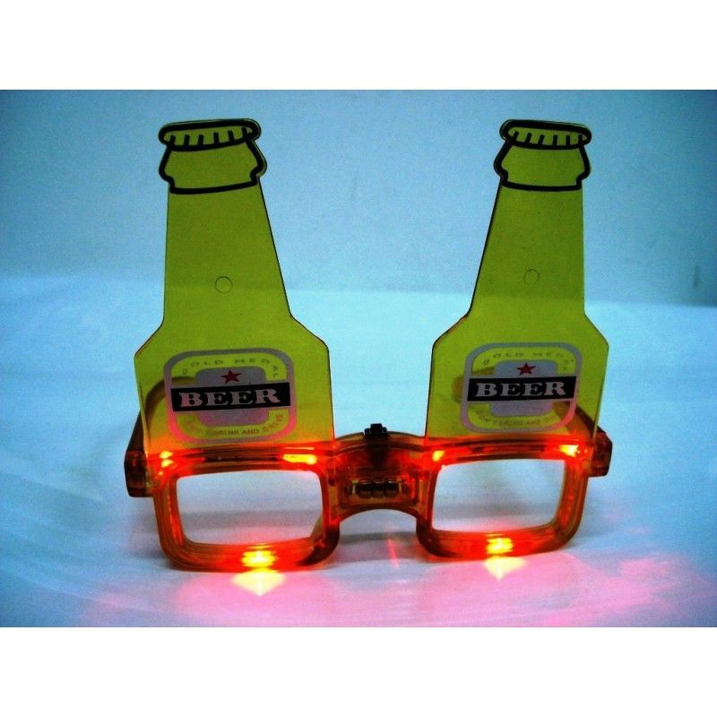 Bottle Beer LED Flashing Spectacles