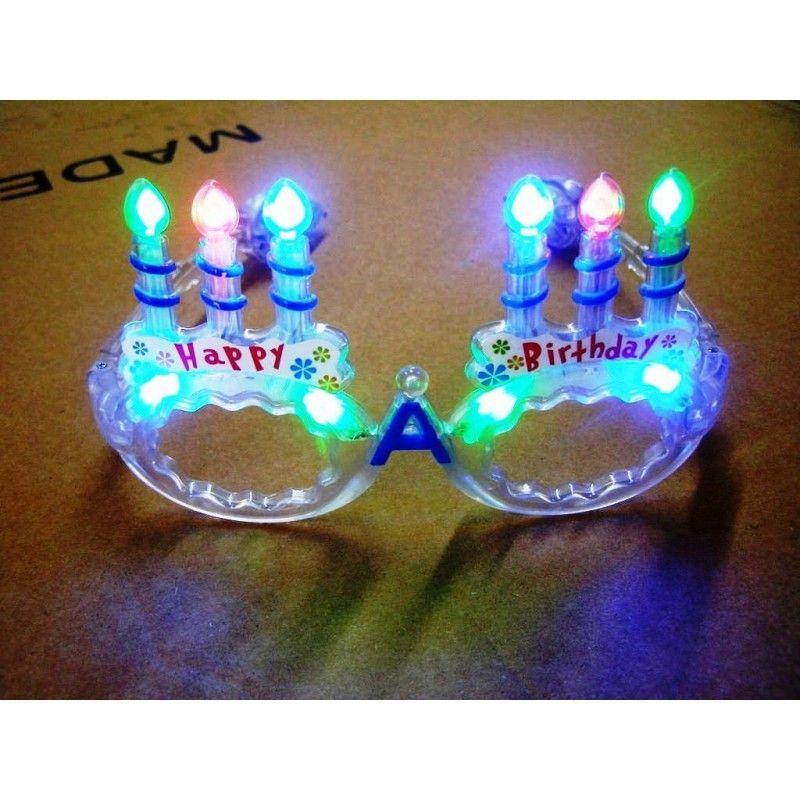 Birthday Party Light Up Fanny Eye Glasses