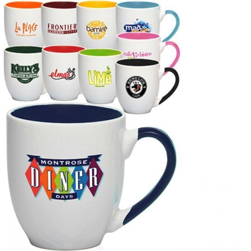 16 Oz. Miami Two-Tone Personalized Bistro Mugs