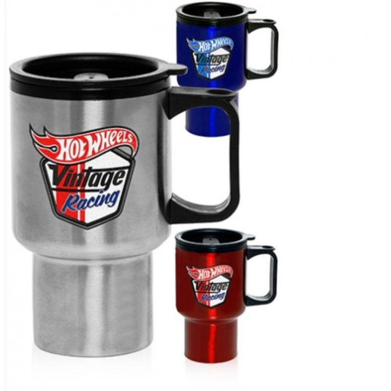 14 Oz. Double Wall Promotional Stainless Steel Travel Mugs