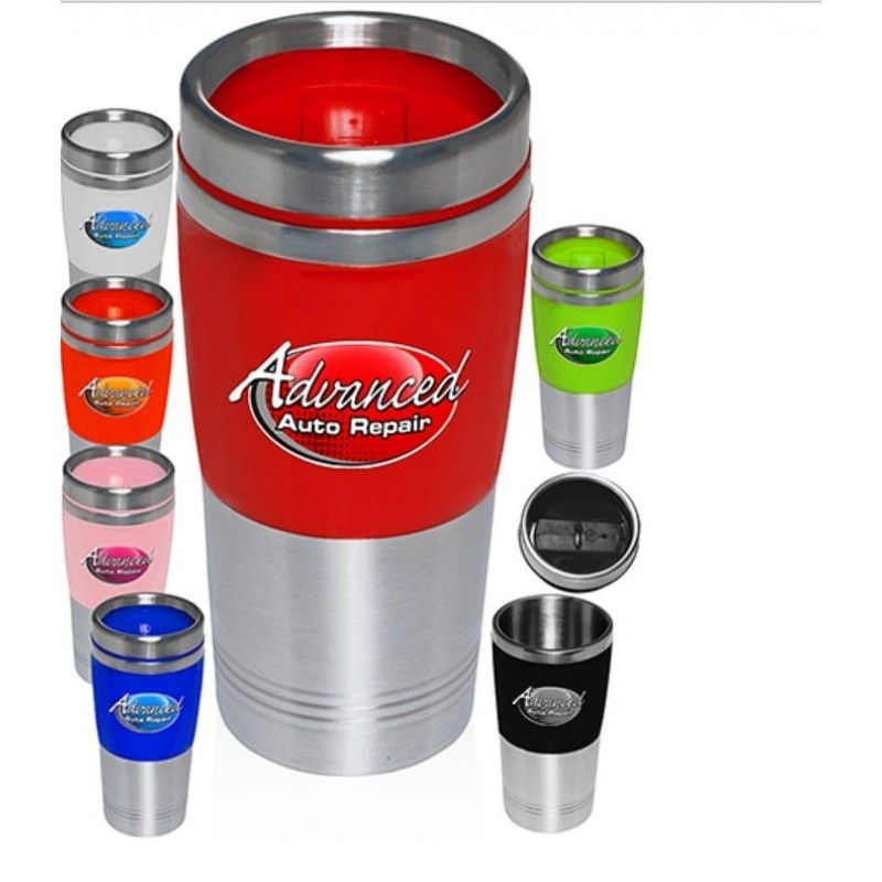 16 Oz. Tall Stainless Steel & Acrylic Promotional Tumblers