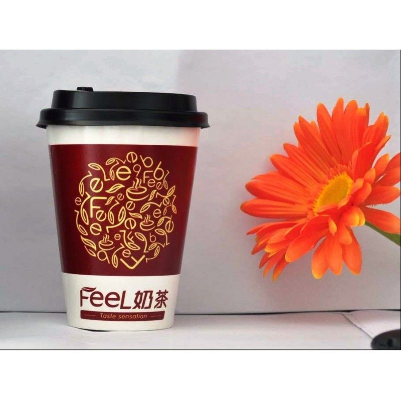 Paper Coffee Cup-400ML wit Cap/ Paper Mugs