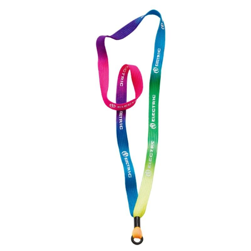 """Promotional 1/2"""" Tie-dye Lanyard W/Metal Crimp And Rubber O-ring"""