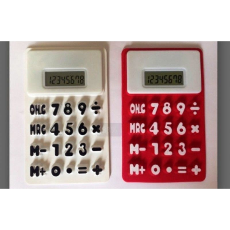 Silicon Split Flexible 8 Digital Calculator