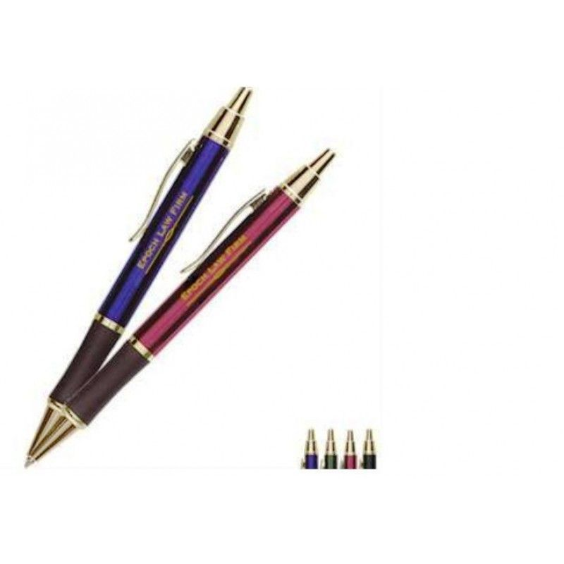 Promotional Ambassador Metal Gift Pen with Gold Trim