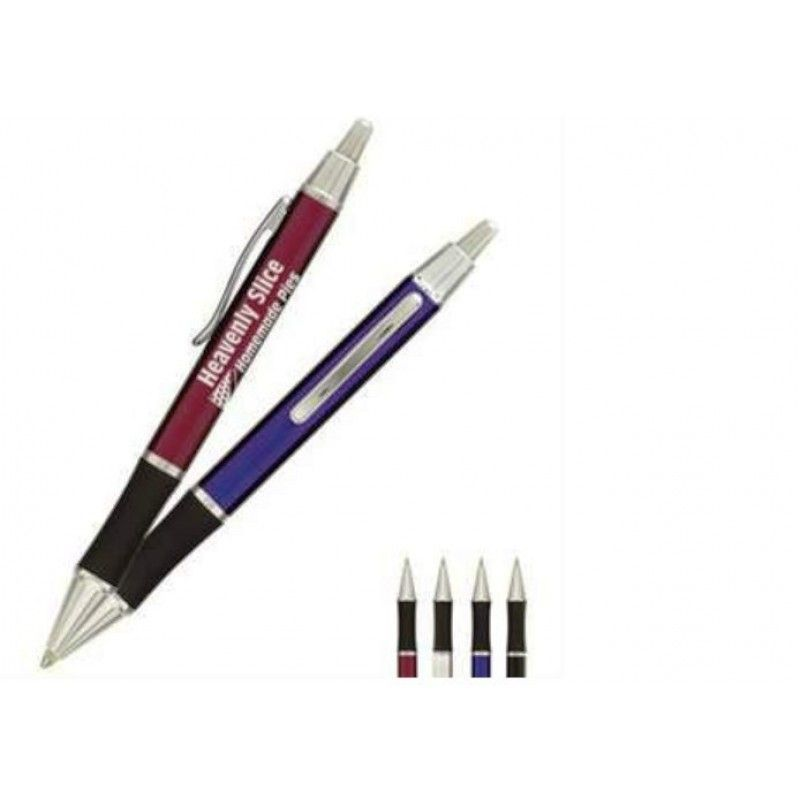 Promotional Ambassador Metal Gift Pen with Silver Trim