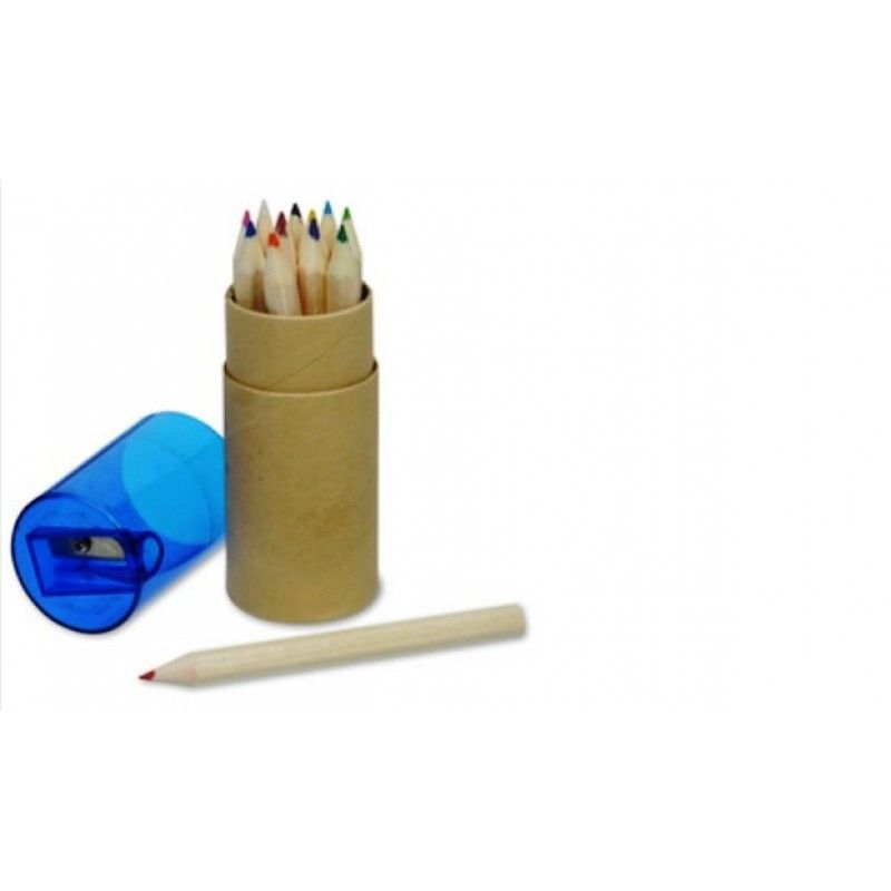 Promotional Colored Pencil And Sharpener Set