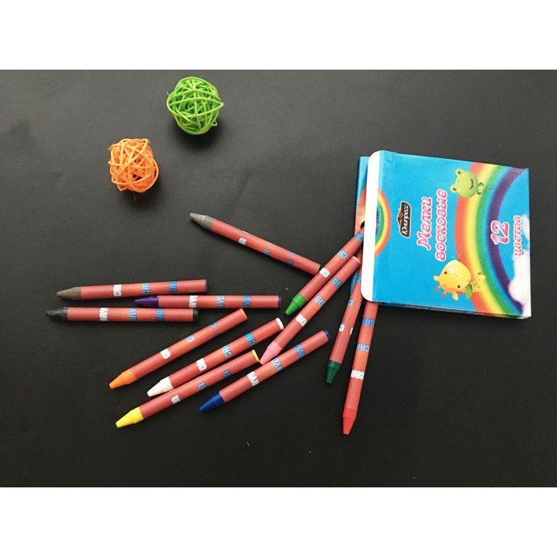 Promotional 12pcs color Crayon Pen Set