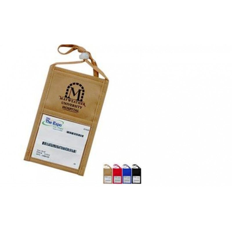Promotional Travel ID Non-Woven Holder