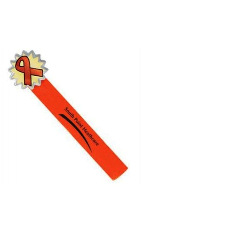 Promotional Reflective Safety Action Band(R) Wristband, Orange Ribbon