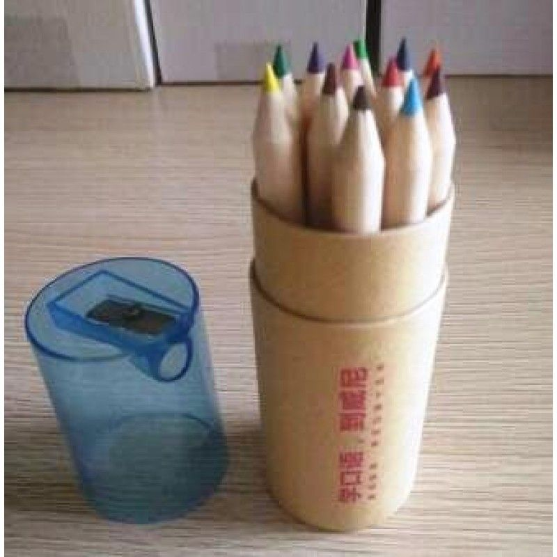 Promotional 12 color wooden pencil sets