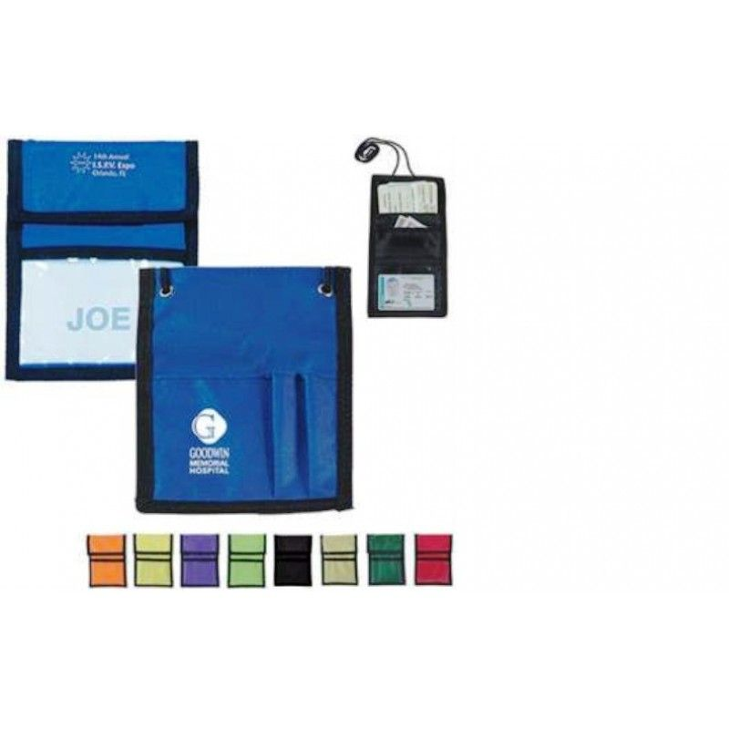 Promotional Nylon Neck Wallet Badge Holder