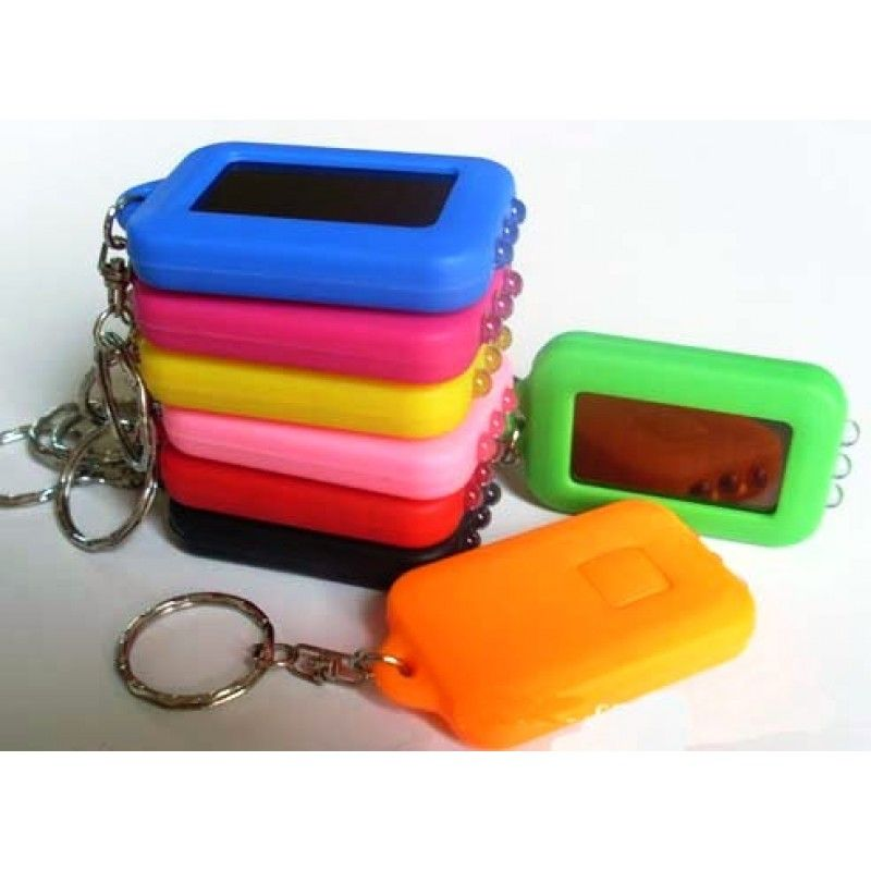 Promotional 3 LED Solar Flashlight Keychain