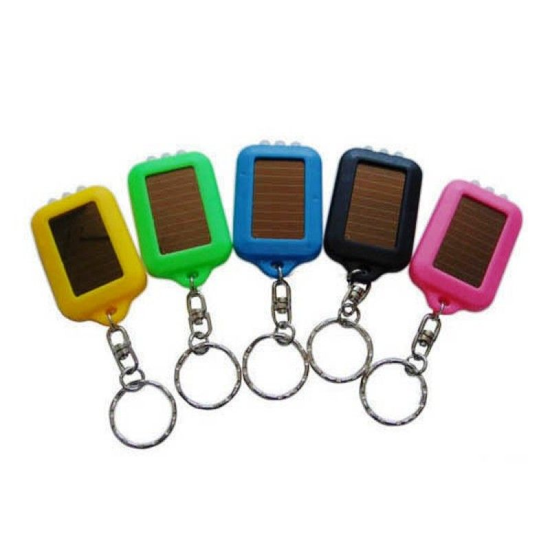 Promotional Promotonal Solar LED Flashlight Keychain